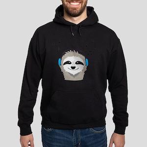 Sloth with headphones Sweatshirt