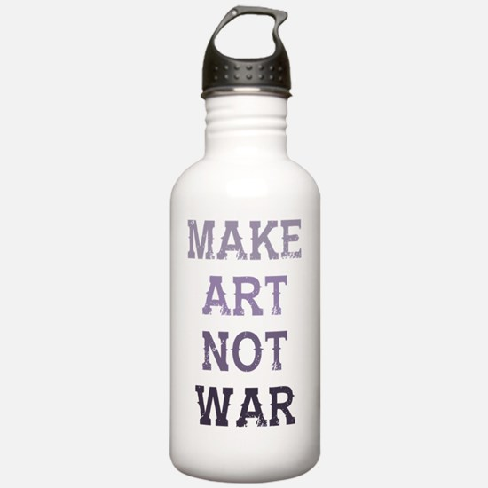 Cool Make art not war Water Bottle