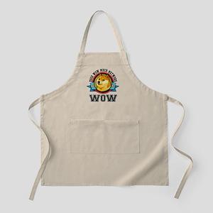 Dogecoin Doge Shibe Wow Emblem Apron