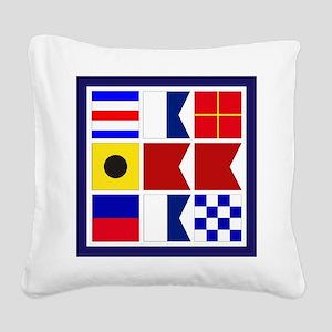 Caribbean Square Canvas Pillow