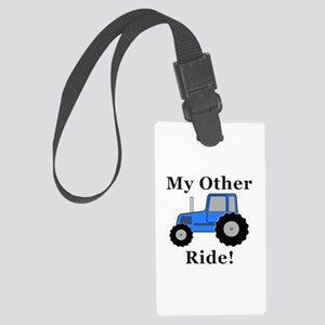 Tractor Other Ride Large Luggage Tag
