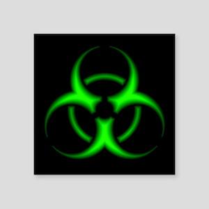 Neon Green Biohazard Symbol Sticker