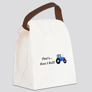 Tractor How I Roll Canvas Lunch Bag