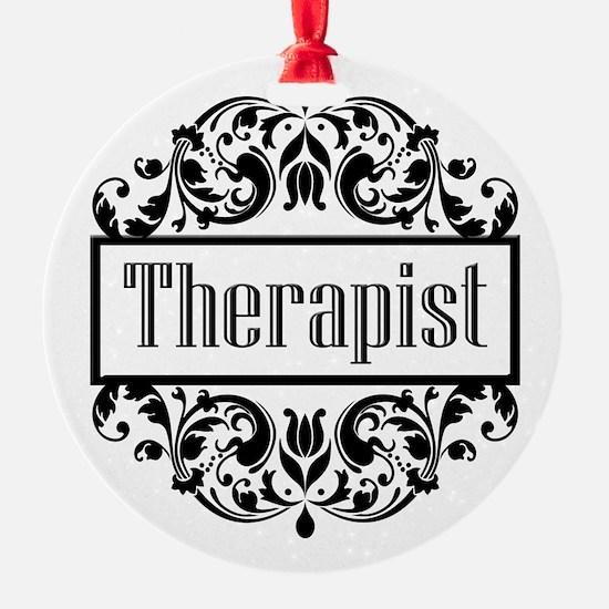Therapist Damask Ornament
