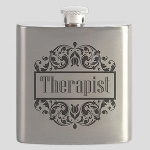Therapist damask Flask