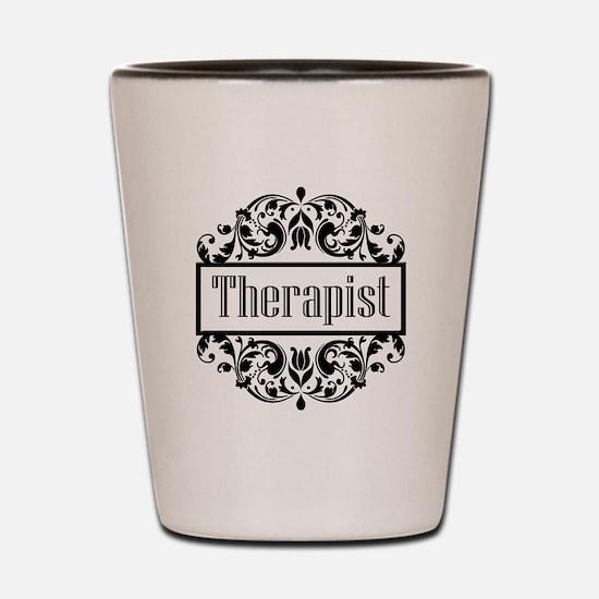 Therapist damask Shot Glass