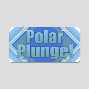 Polar Plunge Aluminum License Plate