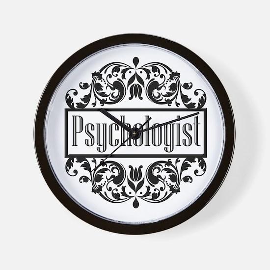 Psychologist damask Wall Clock