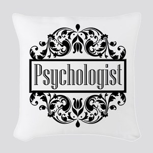 Psychologist damask Woven Throw Pillow