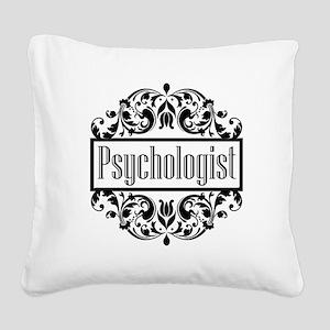 Psychologist damask Square Canvas Pillow