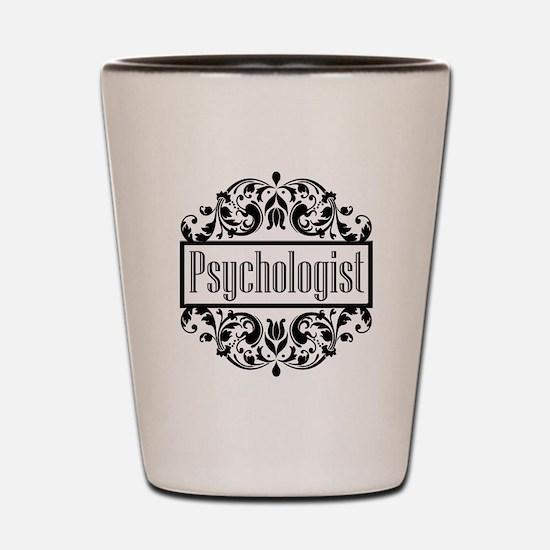 Psychologist damask Shot Glass