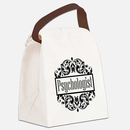 Psychologist damask Canvas Lunch Bag