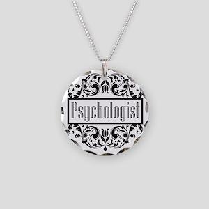 Psychologist Damask Necklace Circle Charm