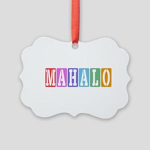 Mahalo Picture Ornament