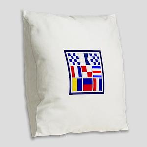 Nantucket Burlap Throw Pillow
