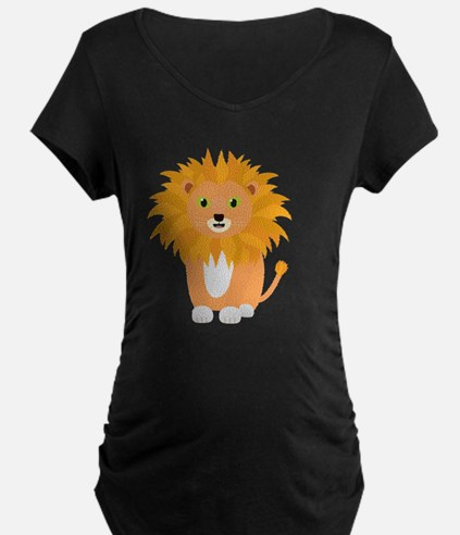 Lion with green eyes Maternity T-Shirt