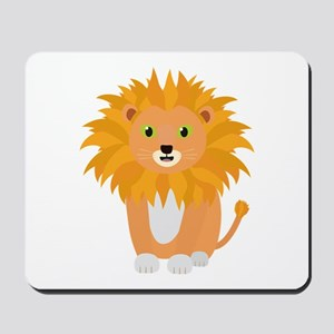 Lion with green eyes Mousepad