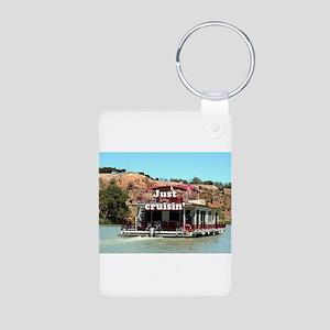 Just cruisin': houseboat, Murray Riv Keychains