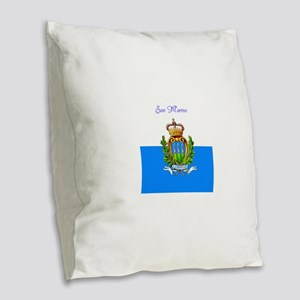 San Marino Burlap Throw Pillow