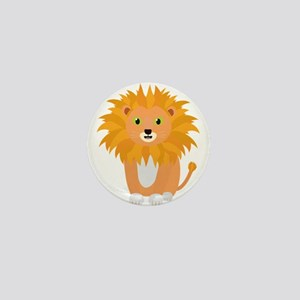 Lion with green eyes Mini Button