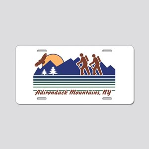 Hike Adirondack Mountains Aluminum License Plate