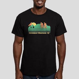 Hike Adirondack Mounta Men's Fitted T-Shirt (dark)