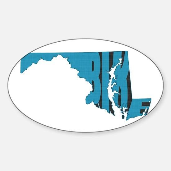 Bike Maryland Sticker (Oval)