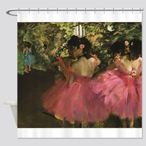 Dancers in Pink by Edgar Degas Shower Curtain