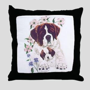 Saint Bernards Throw Pillow