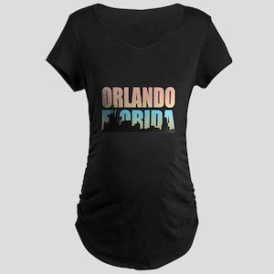 Orlando Florida Maternity Dark T-Shirt