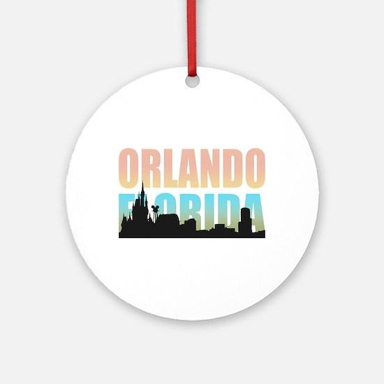 Orlando Florida Round Ornament