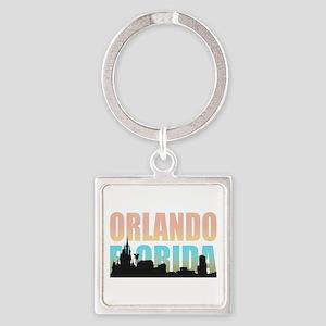 Orlando Florida Square Keychain