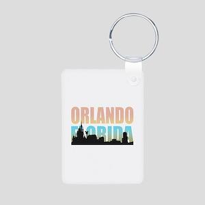 Orlando Florida Aluminum Photo Keychain