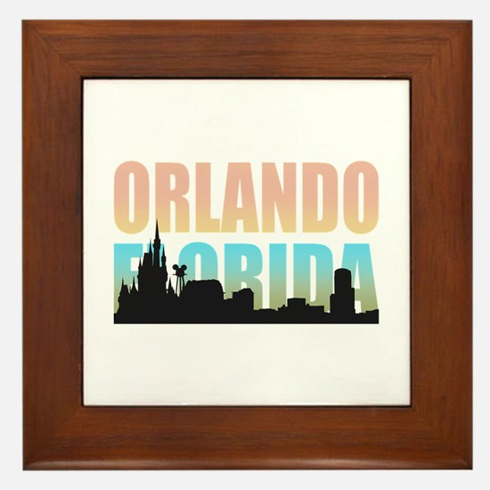 Orlando Florida Framed Tile