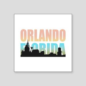 """Orlando Florida Square Sticker 3"""" x 3"""""""