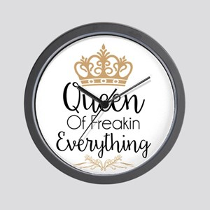 Queen Of Freakin Everything Wall Clock