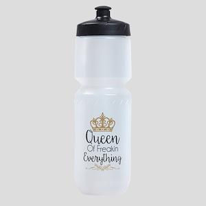 Queen of Freakin Everything Sports Bottle
