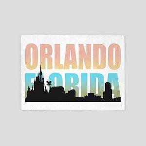 Orlando Florida 5'x7'Area Rug