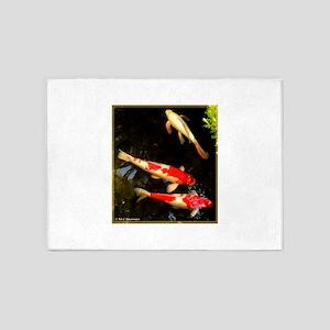 Koi! Fish photo! 5'x7'Area Rug