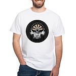 Premium Darts Skull White T-Shirt
