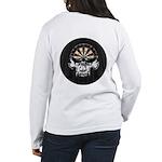 Premium Darts Skull Women's Long Sleeve T-Shirt