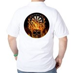 Flaming Darts Skull Golf Shirt