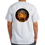 Flaming Darts Skull Light T-Shirt