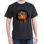 Flaming Darts Skull Dark T-Shirt