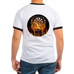 Flaming Darts Skull Ringer T