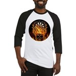 Flaming Darts Skull Baseball Jersey