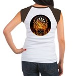 Flaming Darts Skull Junior's Cap Sleeve T-Shirt