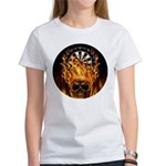 Flaming Darts Skull Women's T-Shirt