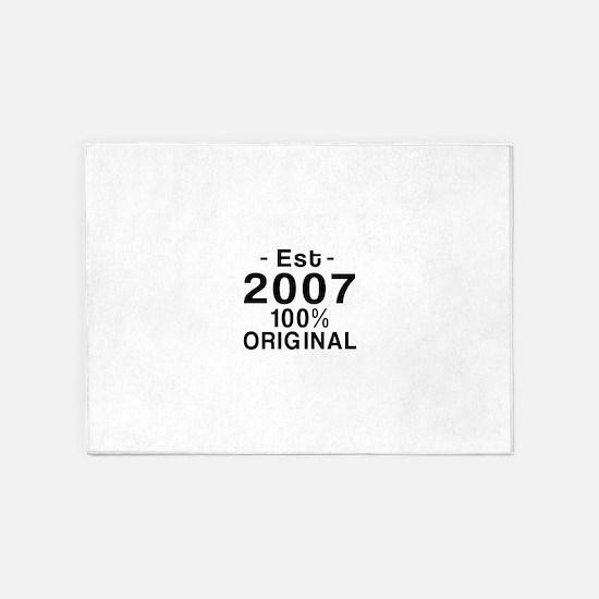 Est 2007 5'x7'Area Rug