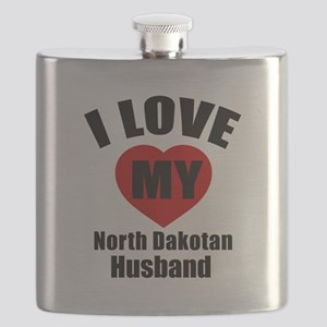 I Love My North Dakotan Husband Flask